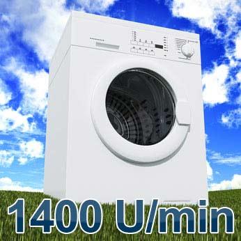 1400 U/min Frontlader Waschmaschine
